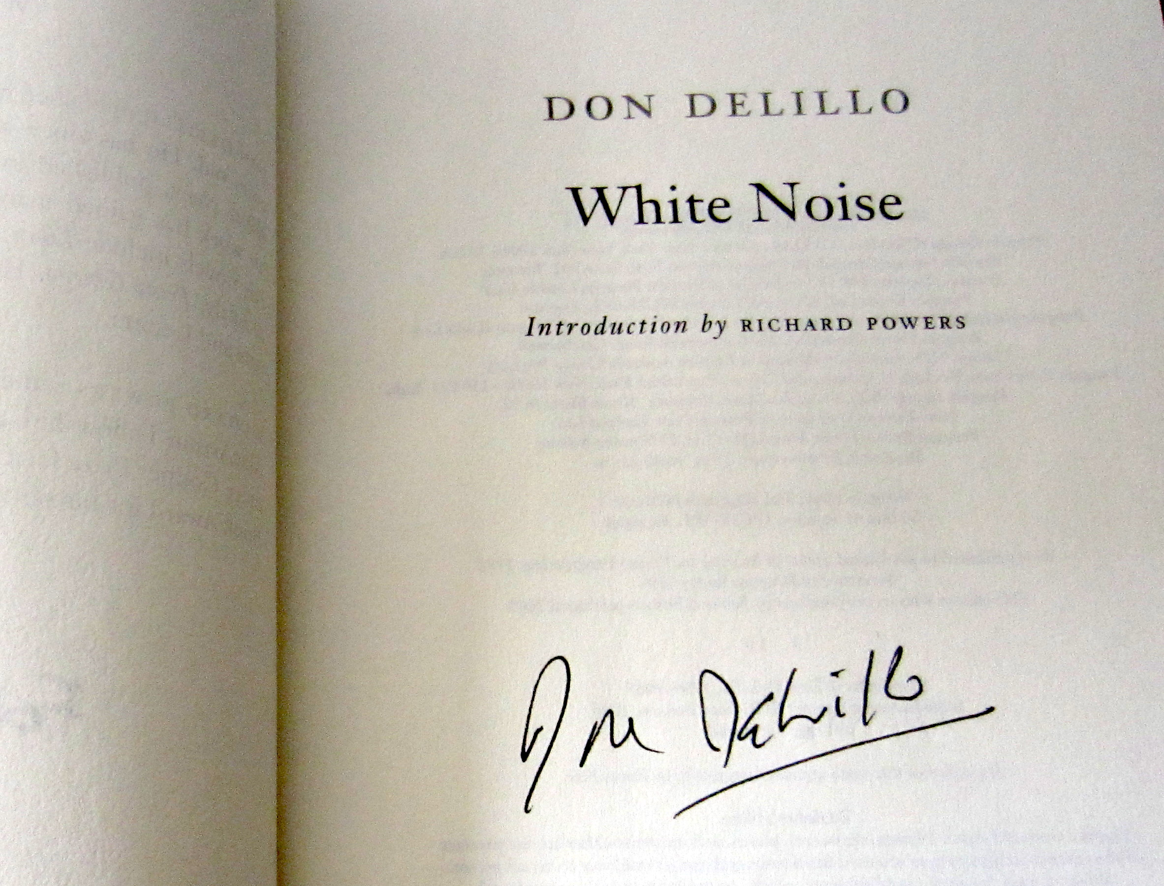 white noise don delillo essay Jay murray siskind is don delillo's only recurring character, having first appeared in delillo's pseudonymous amazons and later as a kind of mephistopheles character in white noise.